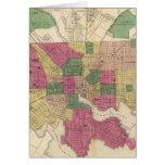 Mapa del vintage de Baltimore (1873) Tarjeton