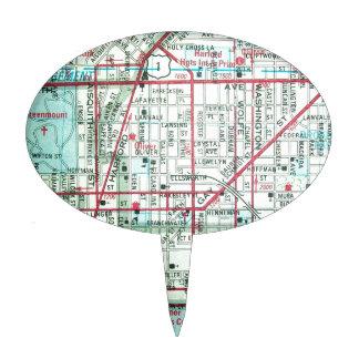Mapa del vintage de BALTIMORE Figura Para Tarta