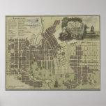 Mapa del vintage de Baltimore Maryland (1805) Póster