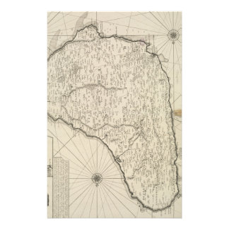 Mapa del vintage de Barbados (1725) Personalized Stationery