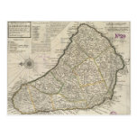 Mapa del vintage de Barbados (1736) Postal