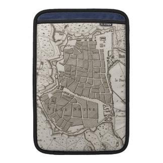 Mapa del vintage de Barcelona España (1764) Fundas Macbook Air