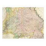 Mapa del vintage de Baviera Alemania (1814) Tarjetas Postales