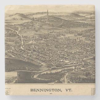 Mapa del vintage de Bennington, Vermont Posavasos De Piedra