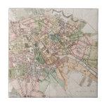 Mapa del vintage de Berlín (1811) Azulejo