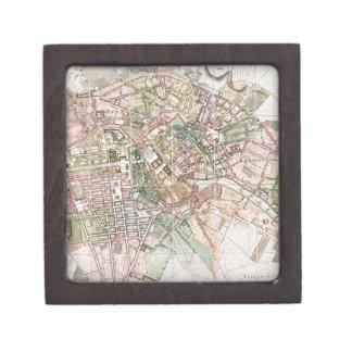 Mapa del vintage de Berlín (1811) Cajas De Joyas De Calidad