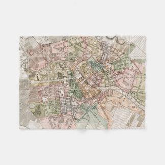 Mapa del vintage de Berlín (1811) Manta De Forro Polar