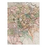Mapa del vintage de Berlín (1811) Postal