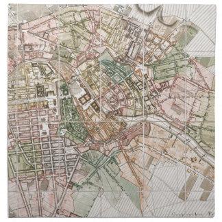 Mapa del vintage de Berlín (1811) Servilletas De Papel