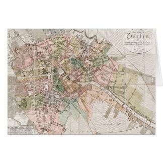 Mapa del vintage de Berlín (1811) Tarjeta De Felicitación