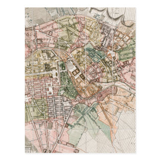 Mapa del vintage de Berlín (1811) Tarjetas Postales