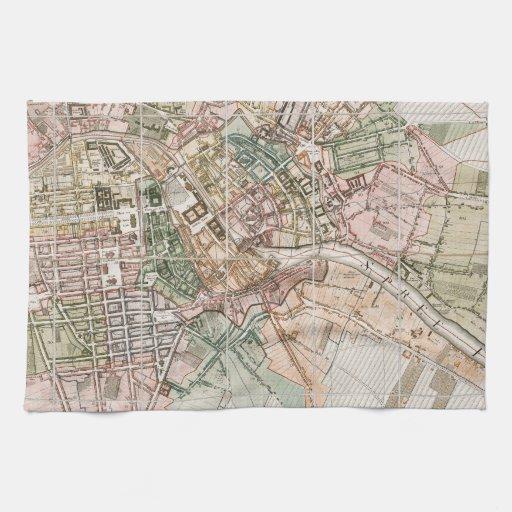 Mapa del vintage de Berlín (1811) Toallas