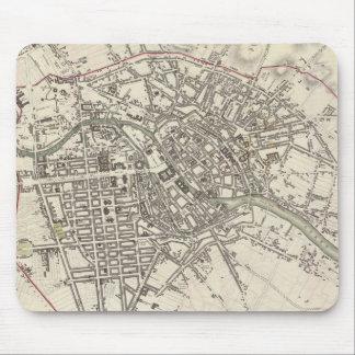 Mapa del vintage de Berlín (1833) Alfombrillas De Raton