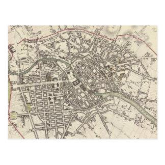 Mapa del vintage de Berlín (1833) Postal