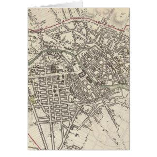 Mapa del vintage de Berlín (1833) Tarjeta De Felicitación