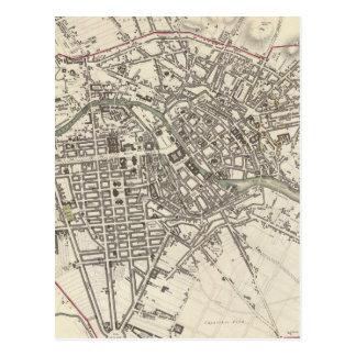 Mapa del vintage de Berlín (1833) Tarjeta Postal