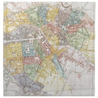 Mapa del vintage de Berlín (1846) Servilletas