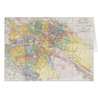 Mapa del vintage de Berlín (1846) Tarjeta De Felicitación
