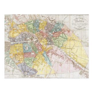 Mapa del vintage de Berlín (1846) Tarjeta Postal