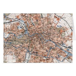Mapa del vintage de Berlín Alemania (1894) Tarjeta De Felicitación