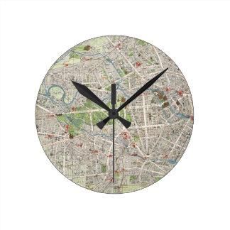 Mapa del vintage de Berlín Alemania (1905) Reloj