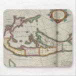 Mapa del vintage de Bermudas (1638) Tapete De Raton