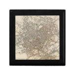 Mapa del vintage de Birmingham Inglaterra (1839) Caja De Recuerdo