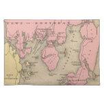 Mapa del vintage de Boothbay Maine (1894) Manteles