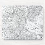 Mapa del vintage de Boston (1878) Tapetes De Ratón