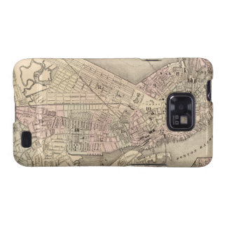 Mapa del vintage de Boston (1880) Galaxy SII Funda