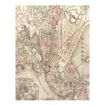 Mapa del vintage de Boston (1880) Membrete A Diseño