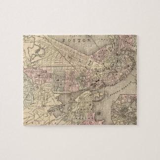 Mapa del vintage de Boston (1880) Puzzle