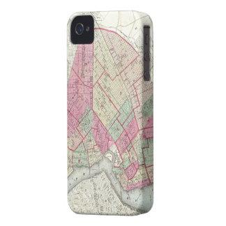 Mapa del vintage de Brooklyn (1868) iPhone 4 Case-Mate Funda