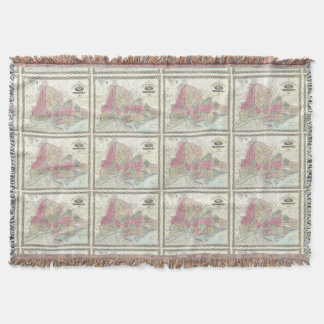 Mapa del vintage de Brooklyn (1868) Manta