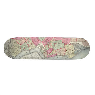 Mapa del vintage de Brooklyn (1868) Skateboards