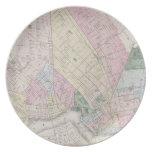 Mapa del vintage de Brooklyn (1873) Platos De Comidas