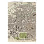 Mapa del vintage de Bruselas (1837) Felicitacion