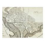 Mapa del vintage de C.C. de Washington (1794) Tarjeta Postal