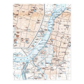 Mapa del vintage de Calcutta la India (1914) Postales