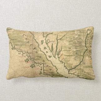 Mapa del vintage de California (1650) Cojín