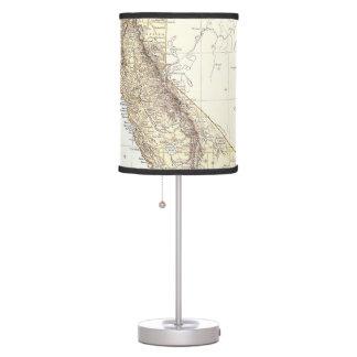 Mapa del vintage de California (1878) Lámpara De Mesilla De Noche