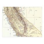 Mapa del vintage de California (1878) Postal