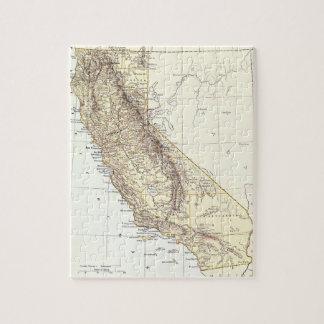 Mapa del vintage de California (1878) Puzzle Con Fotos