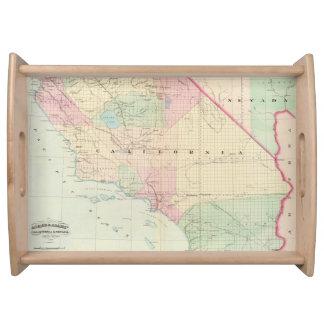 Mapa del vintage de California meridional (1874) Bandejas