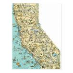 Mapa del vintage de California Postal