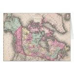 Mapa del vintage de Canadá (1857) Felicitaciones