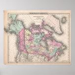 Mapa del vintage de Canadá (1857) Impresiones