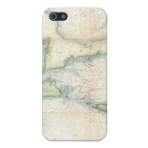 Mapa del vintage de Cape Cod (1857) iPhone 5 Cárcasas