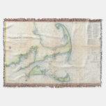 Mapa del vintage de Cape Cod (1857) Manta