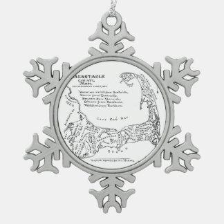 Mapa del vintage de Cape Cod (1890) Adornos